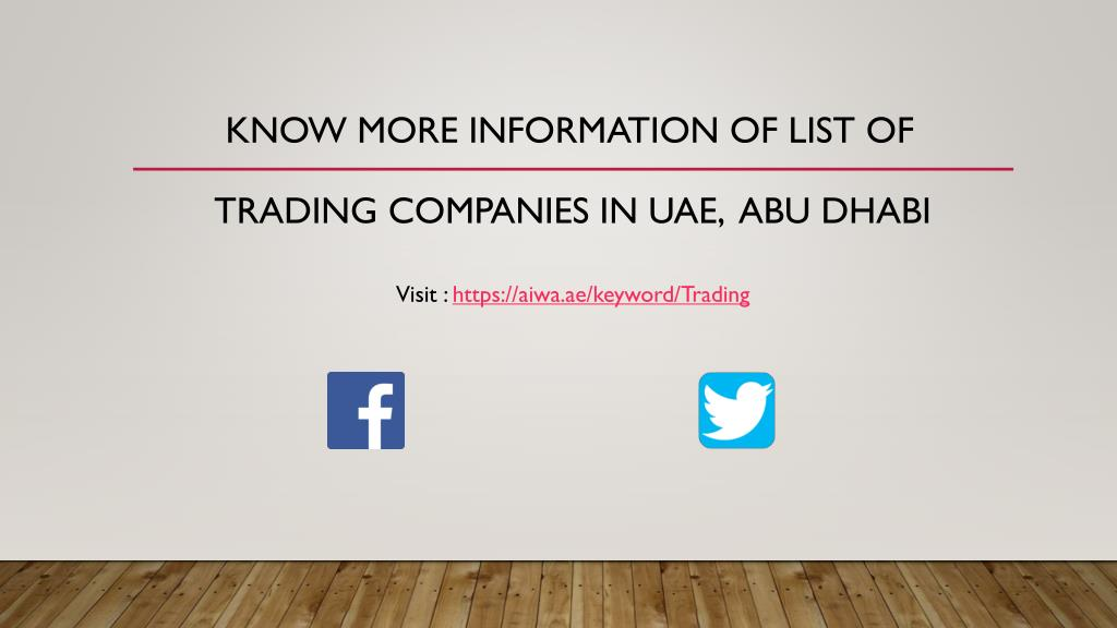 PPT - List of trading Companies in UAE PowerPoint Presentation - ID