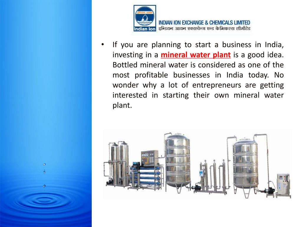 PPT - Things to Know About Mineral Water Plant PowerPoint