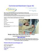 commercial electrician cayce sc