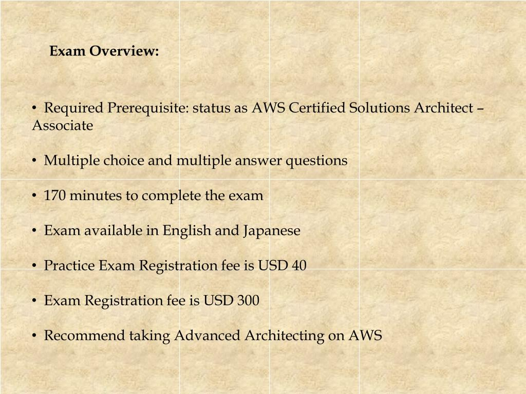 PPT - Updated Amazon AWS Certified Solution Architect