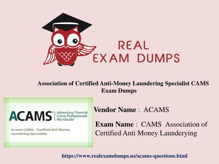PPT - CAMS Exam Questions And Verified Answers With