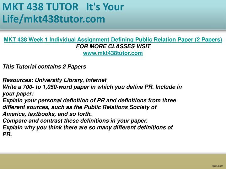 public relations paper mkt 438