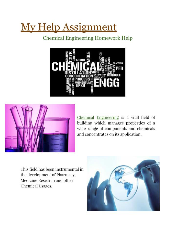 Chemical Engineering Assignment Help | Chemical Engineering Tutors