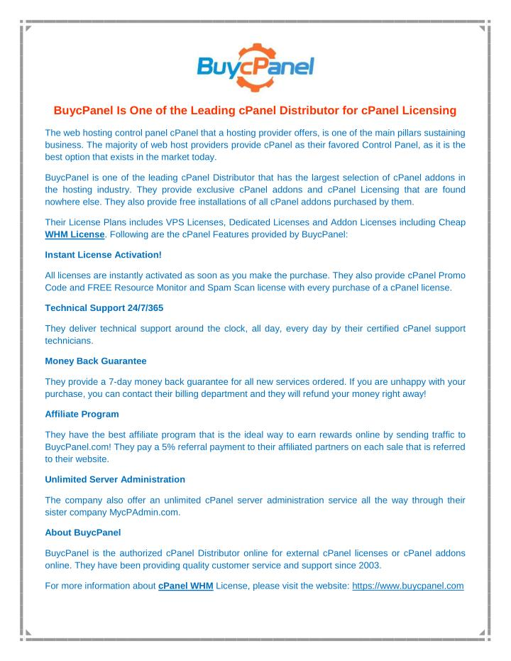 PPT - cPanel Licensing PowerPoint Presentation - ID:7539264