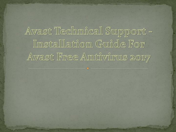 avast technical support installation guide n.