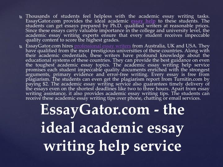 Get help with essay writing