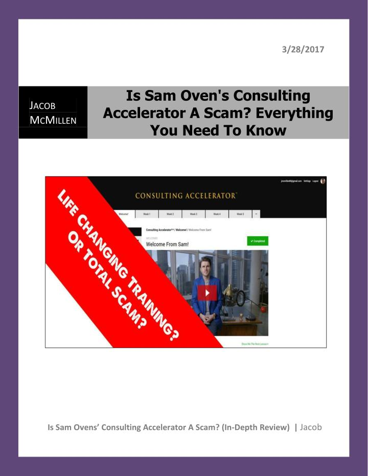 sam ovens consulting blueprint download