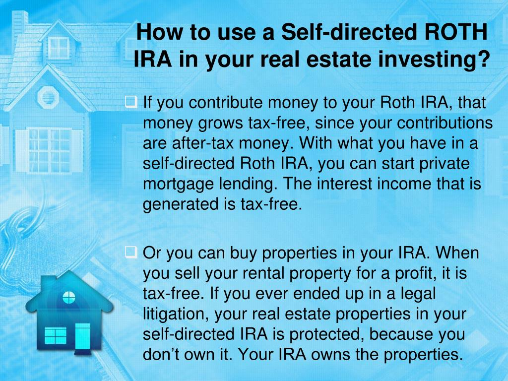 Ppt How To Invest In Real Estate With A Self Directed Ira Powerpoint Presentation Id 7540170
