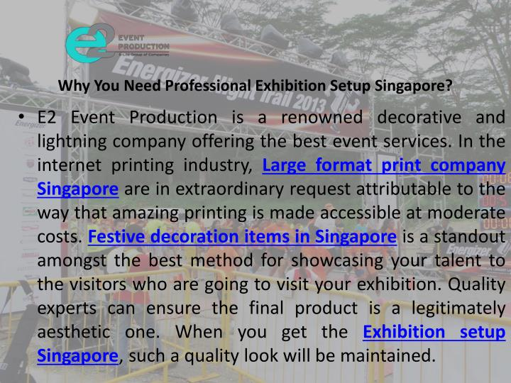 why you need professional exhibition setup singapore n.