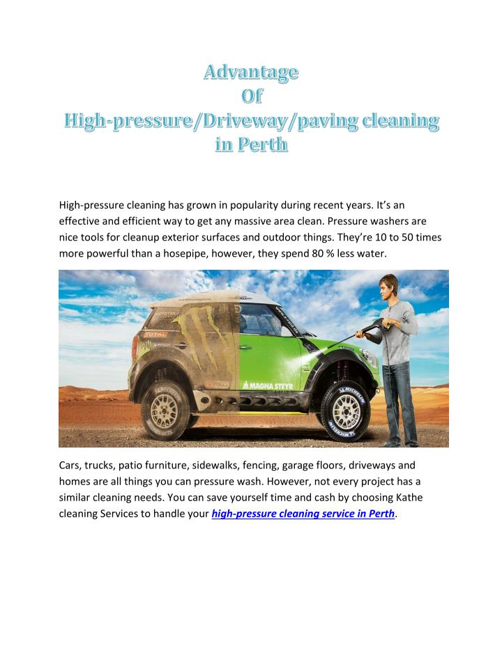 high pressure cleaning has grown in popularity n.