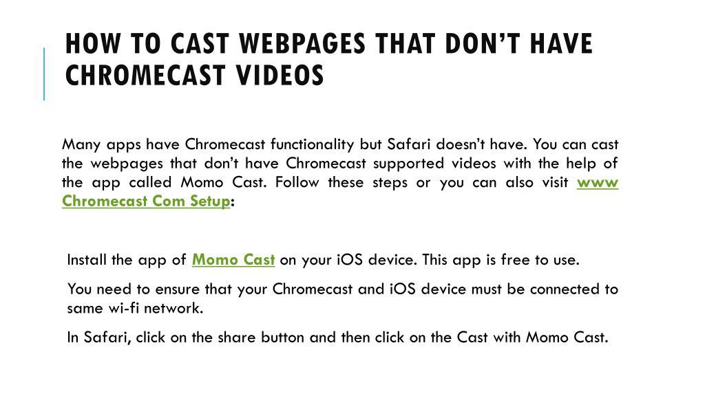 PPT - www google com chromecast setup Call 1-844-305-0087