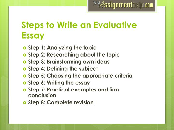 Ppt  Evaluative Essay Writing Help Powerpoint Presentation  Id Steps To Write An Evaluative Essay How To Write A Proposal Essay Paper also Research Essay Proposal Sample  Essay On Science