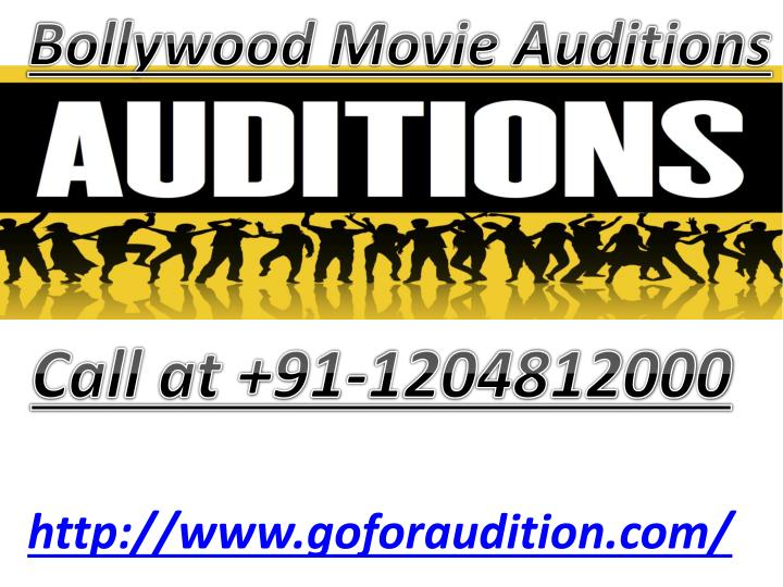 bollywood movie auditions n.