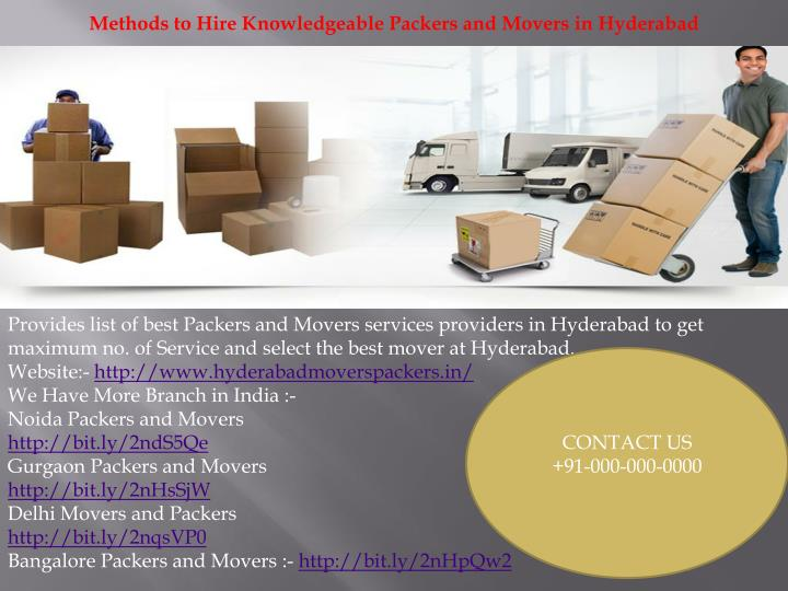 methods to hire knowledgeable packers and movers n.