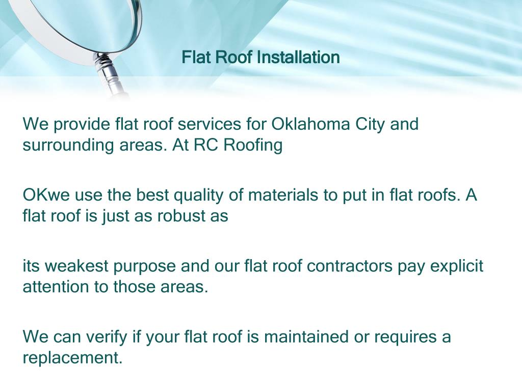 Ppt Flat Roof Installation In Moore Ok Powerpoint