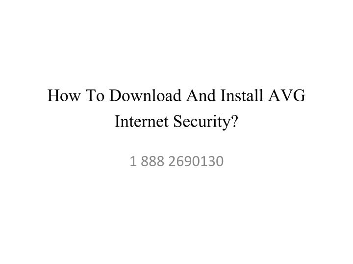 how to download and install avg internet security n.