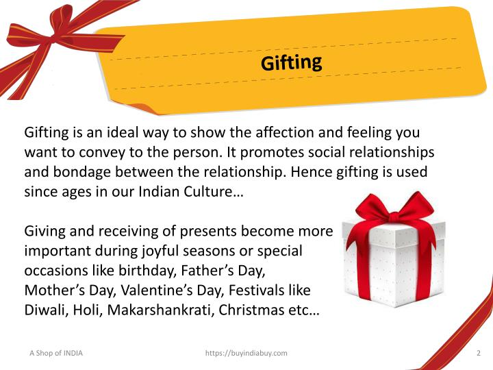 PPT Shop Online Gift Ideas Items In India PowerPoint