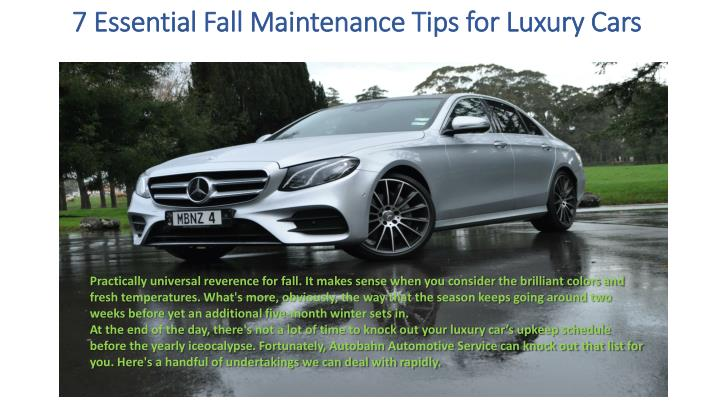 7 essential fall maintenance tips for luxury cars n.