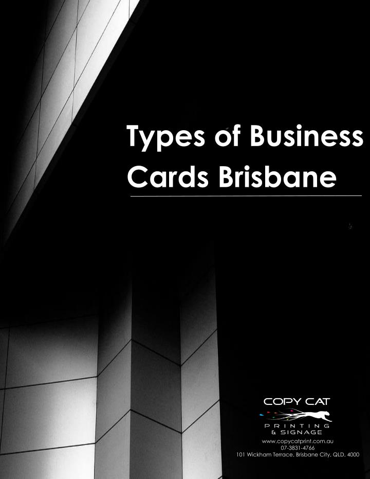 Ppt different kinds of business cards brisbane powerpoint types of business cards brisbane types of business reheart Images
