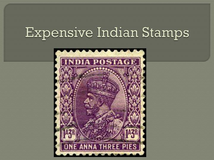 expensive indian stamps n.