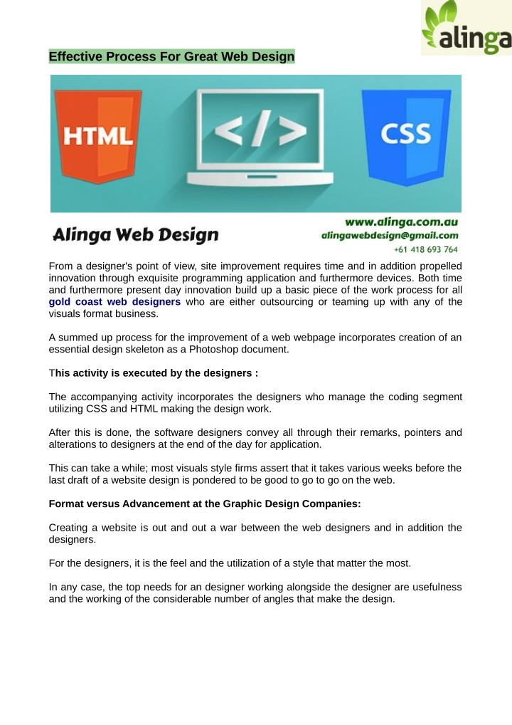 effective process for great web design n.