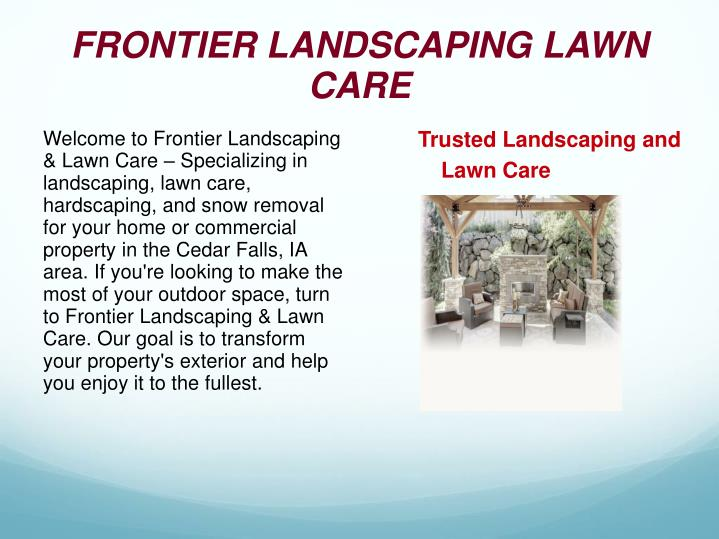 frontier landscaping lawn care n.