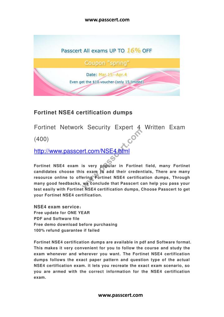 Ppt Fortinet Nse4 Certification Dumps Powerpoint Presentation Id