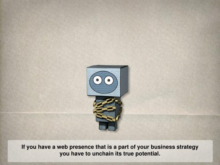 If you have a web presence that is a part of your