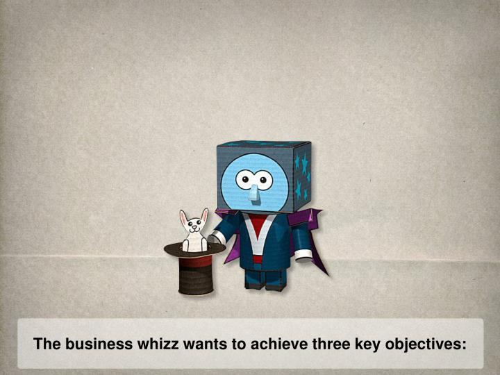 The business whizz wants to achieve three key objectives: