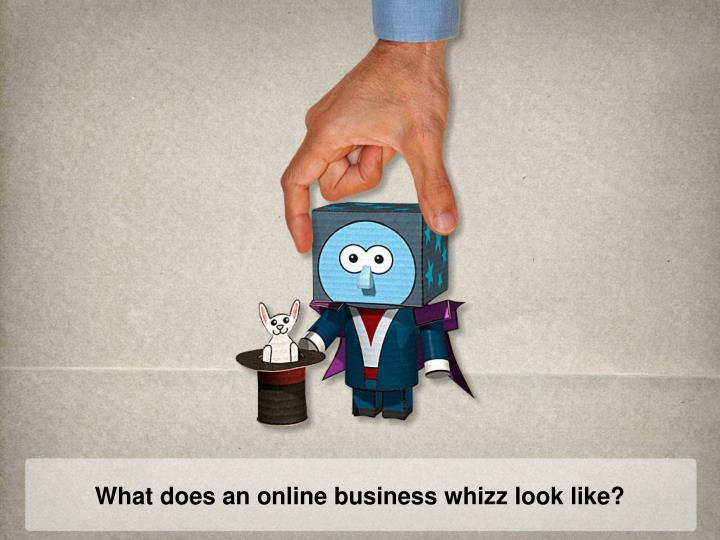 What does an online business whizz look like?