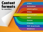 content formats to consider are video animation