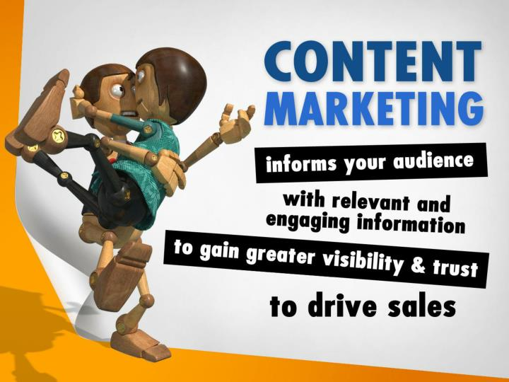 Content marketing informs your audience with relevant, entertaining and memorable information to gain greater visibility and trust that drive sales.