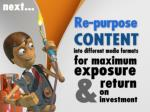 re purpose your content into different media