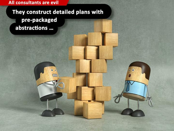 They construct detailed plans with pre-packaged abstractions ...