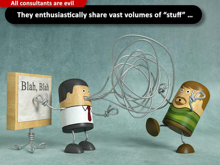 "They enthusiastically share vast volumes of ""stuff"" ..."