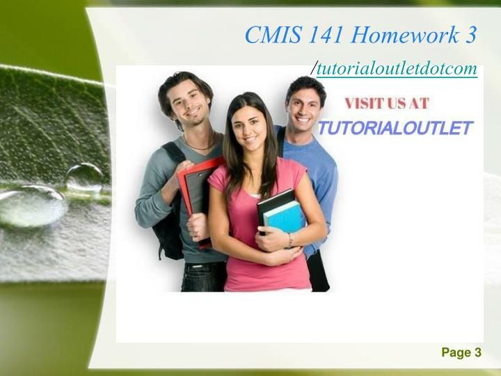 cmis 102 homework 3 Cmis 102 week 3 hands-on lab overview this hands-on lab allows you to follow and experiment with the critical steps of developing a program including the program description, analysis, test plan, design, pseudocode visualization, and implementation with c code.