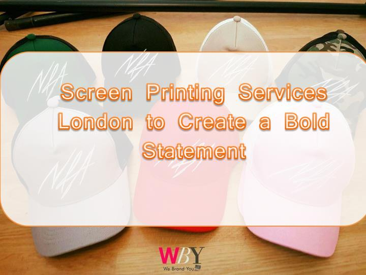 screen printing services london to create a bold n.