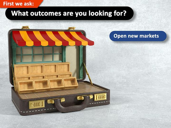 Open new markets.