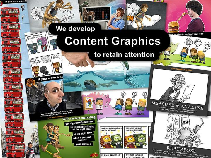 We develop Content Graphics to retain attention.
