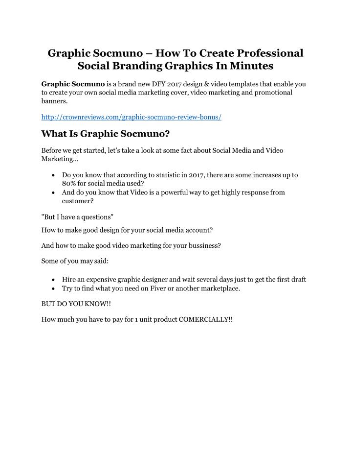 graphic socmuno how to create professional social n.