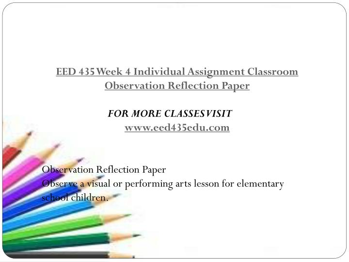 reflection paper for kalumpang elementary school Unlv theses, dissertations, professional papers, and capstones spring 2010 reflective practice: the teacher in the mirror celes raenee rayford university of nevada las vegas.