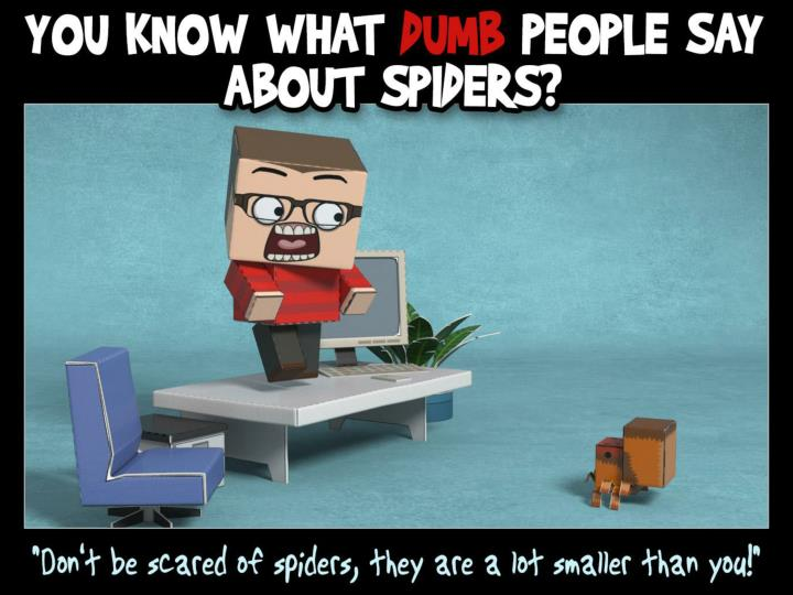 You know what dumb people say about spiders