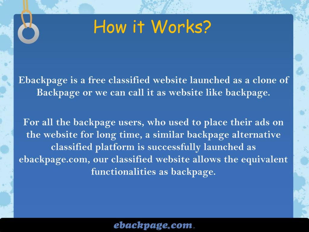 PPT - Backpage alternative classified website PowerPoint