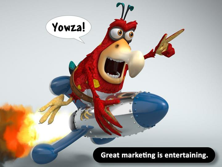 Great marketing is entertaining.