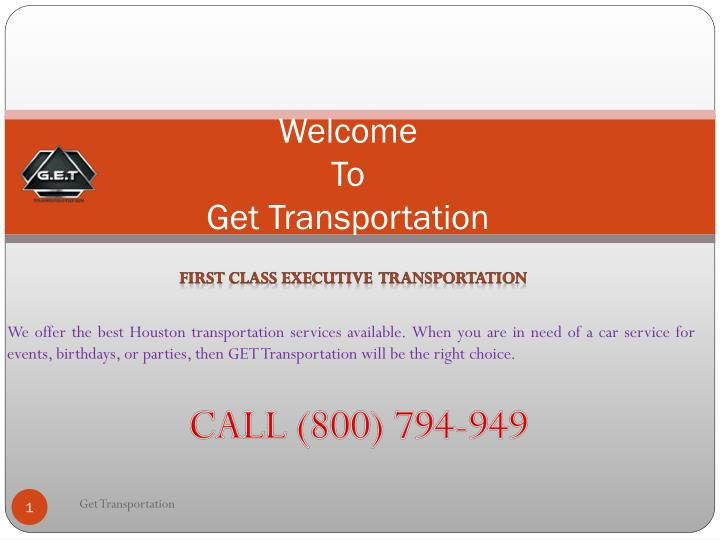 Welcome to get transportation