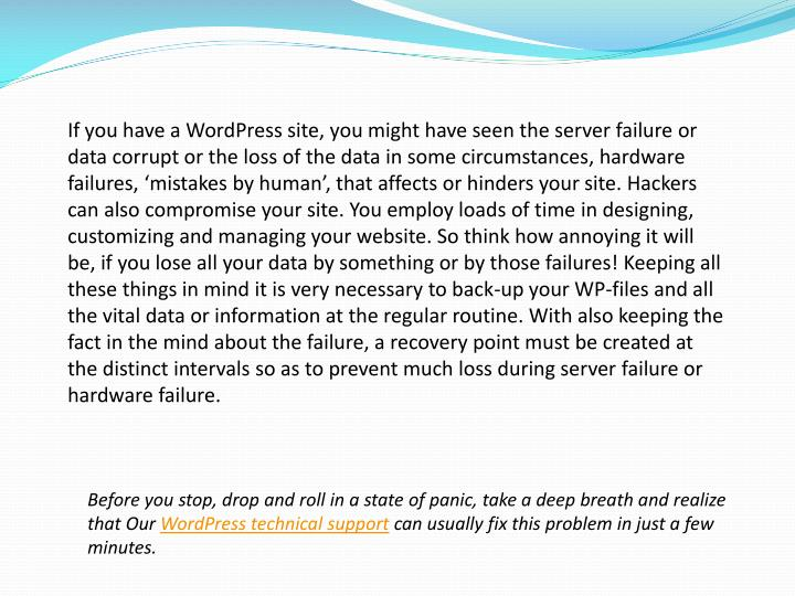 If you have a wordpress site you might have seen