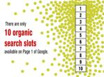 there are only 10 organic search slots available on page one of google