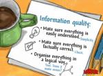 information quality make sure everything
