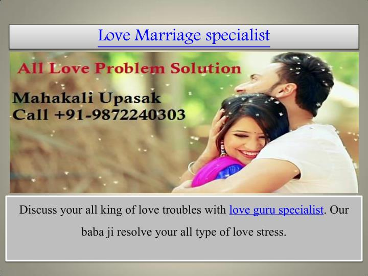 love marriage specialist n.