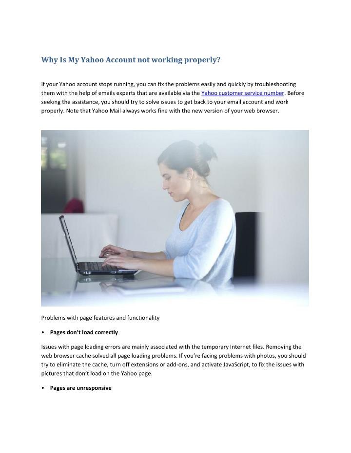 PPT - Why Is My Yahoo Account not working properly
